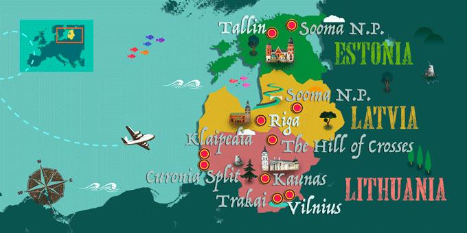 map Baltics States