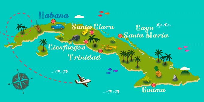 Cuba - Map