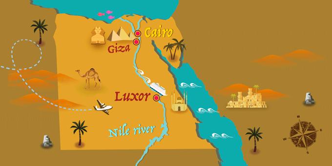 Egypt - Map