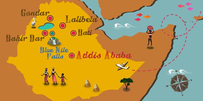 Ethiopia - Map