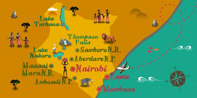 Kenya - Map