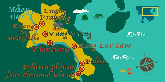 Laos - Map