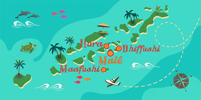 Maldives - Map