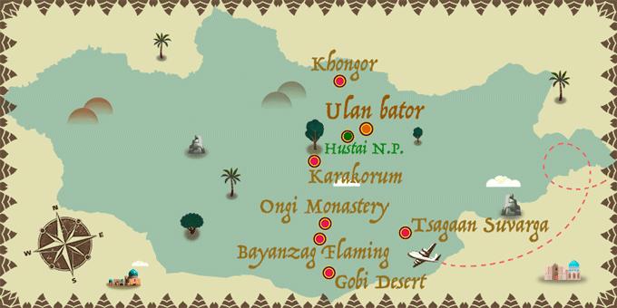 Mongolia - Map