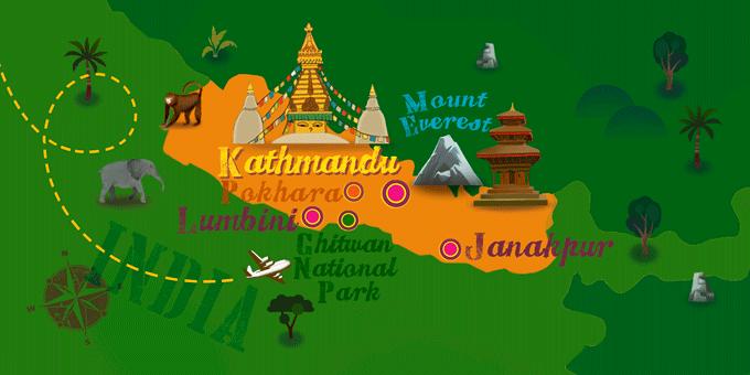 Nepal - Map