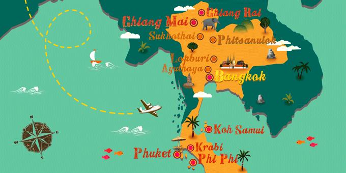 Thailand - Map