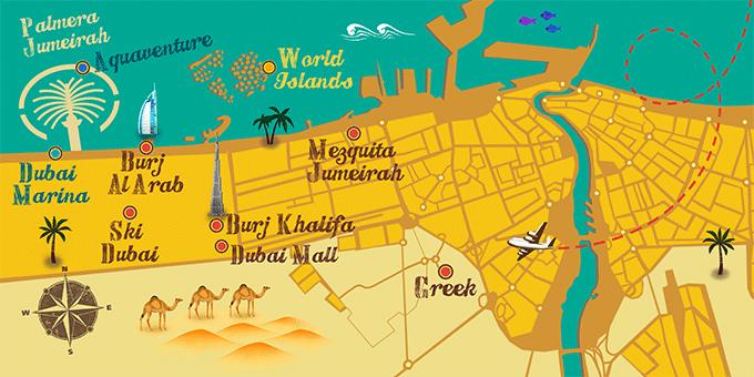 United Arab Emirates - Map