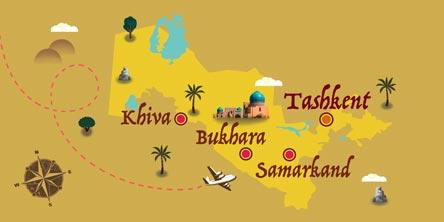 Uzbekistan - Map